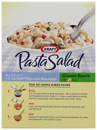 classic pasta salad amazon com kraft pasta salad classic ranch with bacon 6 6 ounce