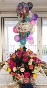 50th birthday flowers and balloons see kidman s 50th birthday cake instyle