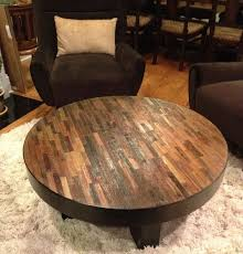 reclaimed wood round coffee table attractive reclaimed wood round coffee table reclaimed wood coffee