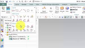 nx cad training tutorials how to use ellipse command in sketch