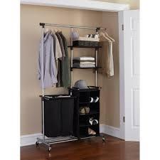 mainstays multi function garment rack black silver walmart com