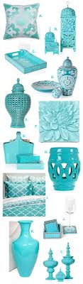 Turquoise Home Decor Accessories Aquamarine Turquoise Interior Design Home Decorating Products