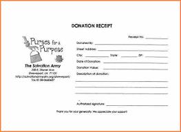 10 salvation army donation receipt form return receipt form