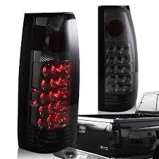 1998 chevy silverado tail lights 1988 1998 chevy gmc c10 truck smoke housing red lens altezza style