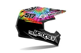 motocross helmet graphics helmet wraps backyard design