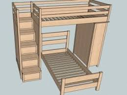 Bunk Bed Plans With Stairs Loft Beds With Steps Foter