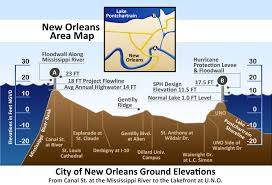 New Orleans Flood Zone Map by Hurricane Katrina