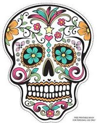page printable decoupage colorful images color sugar skull