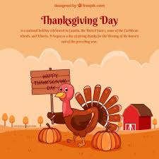 thanksgiving design with turkey on farm vector free