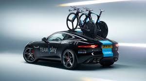 jaguar car icon jaguar present team sky with concept f type time trial support car