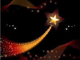 festive shooting star with blended gold light ppt backgrounds
