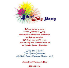 fourth of july birthday invitations 4th of july free suggested wording by holiday geographics