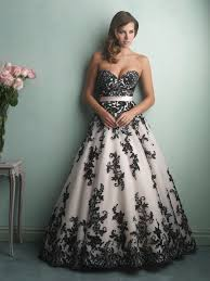 black and white wedding dresses bridals style 9150