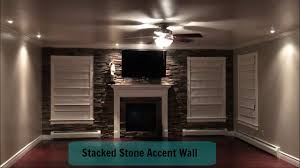 Accent Walls In Living Room by Home Improvement Living Room Stacked Stone Accent Wall Youtube