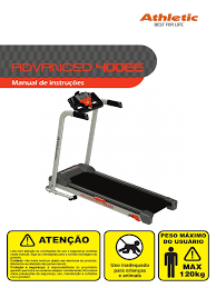 manual esteira athletic 400ee