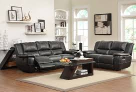 Black Leather Reclining Sofa And Loveseat Homelegance Cantrell Reclining Sofa Set Black Bonded Leather