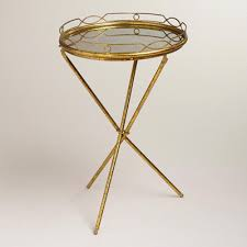 vintage gold side table a cool vintage gold mirrored butler tray perfect for serving food