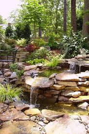 Waterfall Ideas For Backyard Top Brick Rock Garden Waterfall Designs Start An Easy Image With