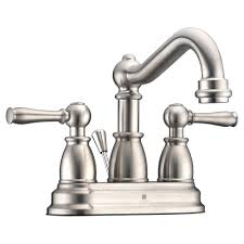anzzi edge series 4 in centerset 2 handle mid arc bathroom faucet