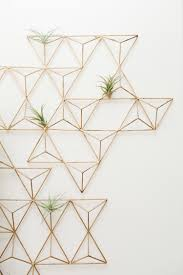 Metal Wall Planter by Before U0026 After Living Room Reveal Geometric Wall Art Geometric