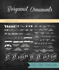 free font friday bergamot ornaments