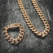 10mm diamond 19mm diamond cuban link necklace bracelet bundle viva sun jewelry