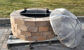 Outdoor Fire Pit Chimney Hood by Steel Fire Pit Ring Insert Screens A Chapala Sun God With Screen