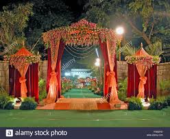 view of a wedding decoration india stock photo royalty free