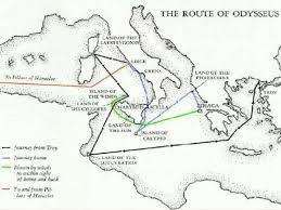 odyssey map odyssey the adventures of odysseus