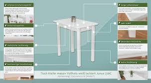 Schreibtisch Kiefer Massiv Tisch Kiefer Massiv Vollholz Weiß Lackiert Junco 226c Abmessung