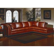 omnia leather kingsley leather sectional u0026 reviews wayfair