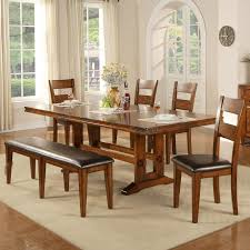 trestle dining table with bench colton 6 piece trestle table bench and chair set rotmans table