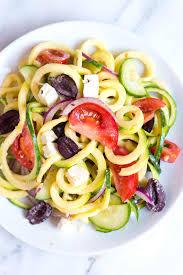 mediterranean zucchini noodles salad recipe