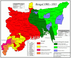 Map Of India And Pakistan by Pakistan Geotagging Partitions Of Bengal In 1905 And 1947