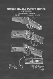 Browning Wall Decor Winchester Single Shot Rifle Patent Patent Print Wall Decor