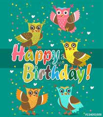 Happy Birthday Owl Meme - happy birthday funny owl cute owl vector set flying birds