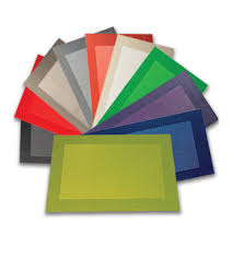 Table Place Mats Vinyl Woven Placemats In Contemporary Colors