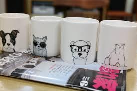 Cute Animal Mugs by Custom Made Pet Mug Hand Painted Animal Mug Cup