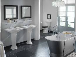 black and gray bathroom ideas gray tile bathroom