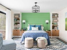 Bedroom Blue And Green Sleeping Nook Pictures From Diy Network Ultimate Retreat 2017
