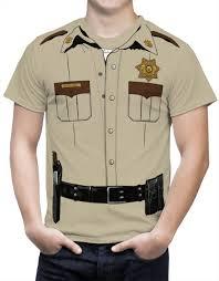 halloween costume t shirts sheriff costume mens t shirt