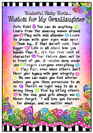 words of wisdom for the happy wonderful wacky words wisdom for my granddaughters grandkids