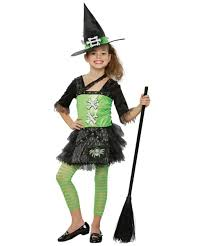 Girls Witch Halloween Costumes Green Punky Witch Costume Kids Costume Witch Halloween Costume