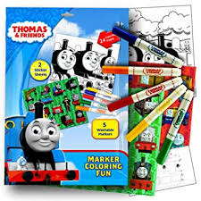 amazon thomas train stickers coloring activity