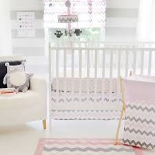 Pink And Gray Crib Bedding Sets Design Chevron Baby Bedding Set All Modern Home Designs