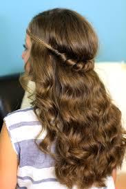 elastic hair band hairstyles headband twist half up half down hairstyles cute girls hairstyles