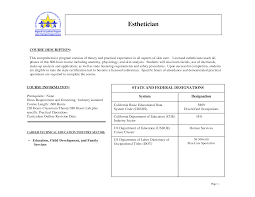 home design ideas esthetician resume sample beautiful excellent
