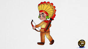 thanksgiving indian chief how to draw an american indian step by step youtube
