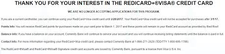 red roof inn visa card being discontinued doctor of credit