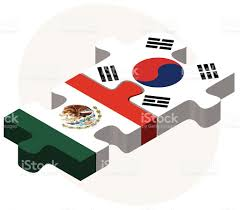 South Korea Flag Mexico And South Korea Flags In Puzzle Stock Vector Art 473519824